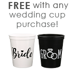 Free Bride & Groom Cup with Wedding Cups Purchase