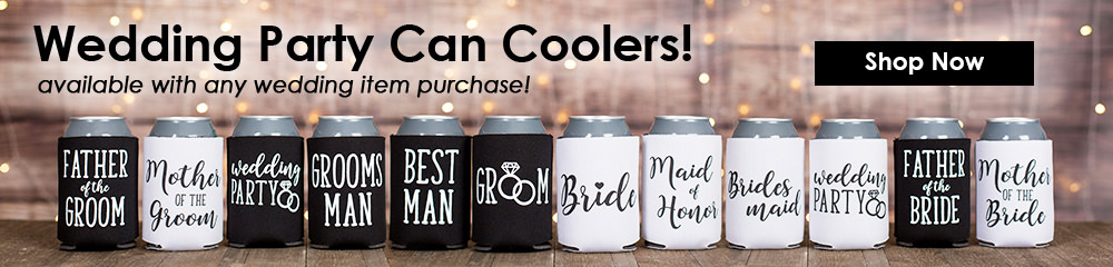 Wedding Party Can Coolers